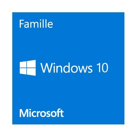 Microsoft Windows 10 Famille 64 Bits (oem)