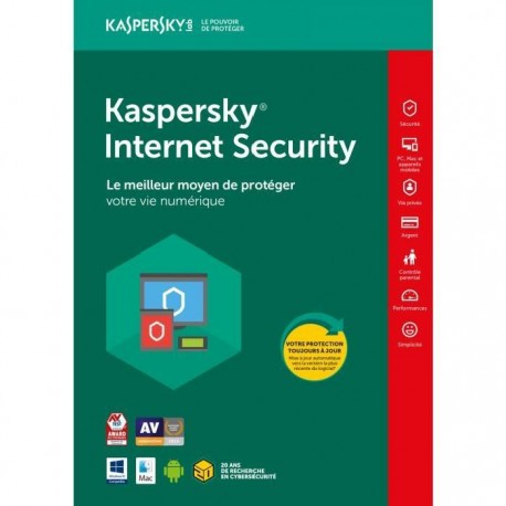 KASPERSKY Internet Security 2018 1 Poste / 1 An