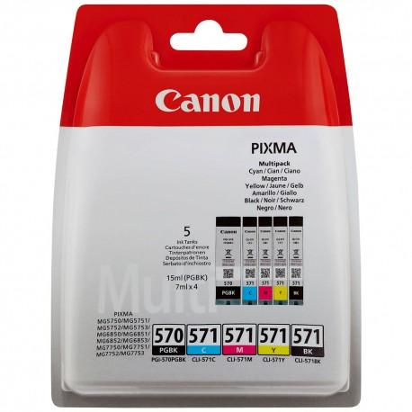 Canon CLI-571/PGI-570 - Pack de 5 / Noir et couleur