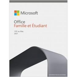 Microsoft Office Famille et Etudiant 2021 1 Poste
